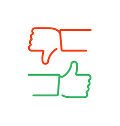 up and down thumbs icon vector image