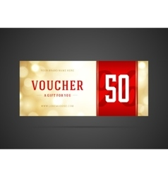 Voucher template abstract lght design vector image