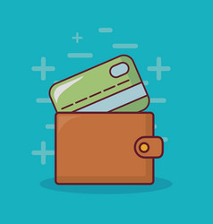 wallet with money design vector image