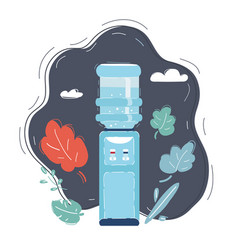 water cooler on dark vector image