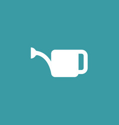 watering can icon simple gardening element vector image