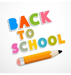 Colorful back to school background with pencil vector