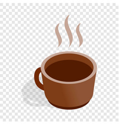 cup of hot drink isometric icon vector image