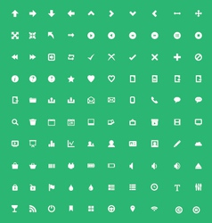 Set of application icons vector image