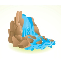 waterfall icon vector image
