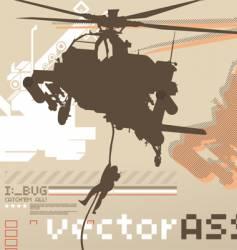 Assault chopper vector