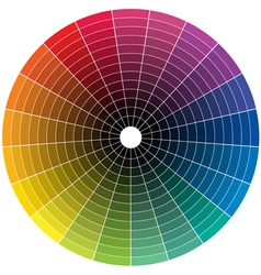 Color whell to black vector image