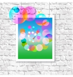 Colorful picture on the wall vector image
