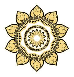 golden mandala flourish classic decoration vector image