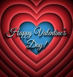 Happy Valentines Day retro background vector image vector image