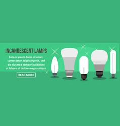 incandescent lamps banner horizontal concept vector image vector image