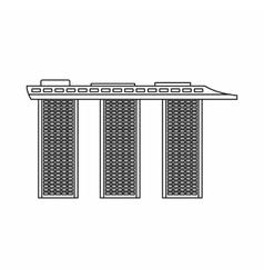 Marina Bay Sands Hotel Singapore icon vector image vector image
