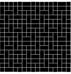 white square block seamless on black background vector image