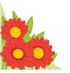 Cartoon flower background vector image