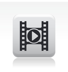 player video icon vector image vector image