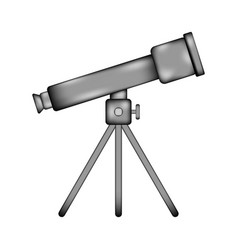 telescope sign icon vector image