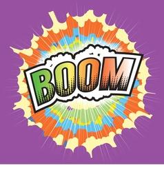 BOOM Wording Sound Effect for Comic Speech vector image