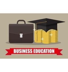 Globe graduation cap books diploma education vector image