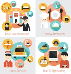 Hotel Accommodation Services Set vector image