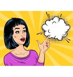 Pop Art Surprised Girl vector image vector image