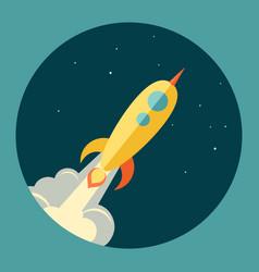 space rocket launch start up vector image vector image
