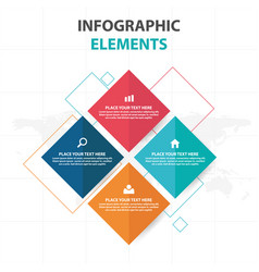 Abstract colorful square business infographics vector
