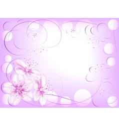 Abstract flower design vector image vector image