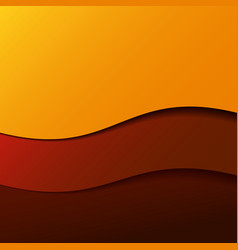 Abstract red wave background with stripes vector image vector image