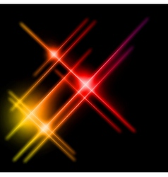 Abstract yellow and red rays lights vector