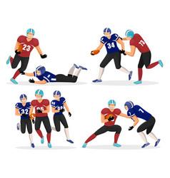 American football teams gridiron players vector