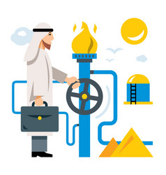 arab gas industry flat style colorful vector image