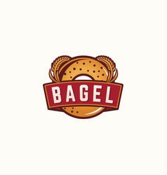 bagel logo template vector image