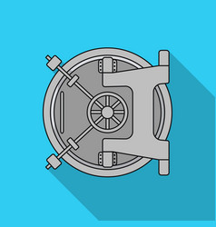 bank vault icon in flat style isolated on white vector image
