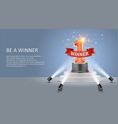 be a winner web banner poster design vector image
