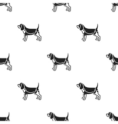 Beagle icon in black style for web vector