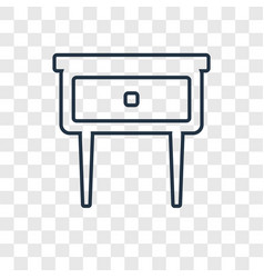 bedside table concept linear icon isolated on vector image