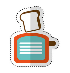 Bread toaster kitchen utensil isolated icon vector