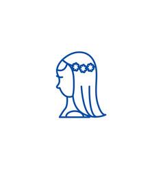 bride line icon concept bride flat symbol vector image
