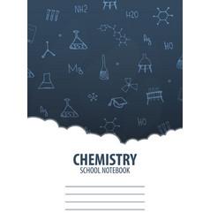 Chemistry school notebook template back to school vector