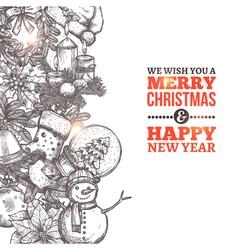 Christmas Sketch Card vector image vector image