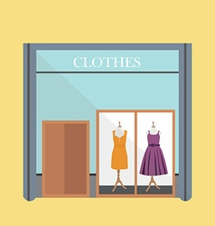 Clothing store vector image