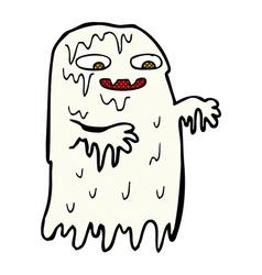 comic cartoon gross slime ghost vector image