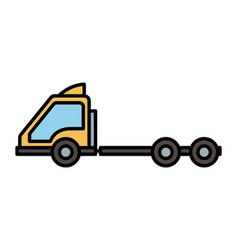 container truck head transport icon vector image