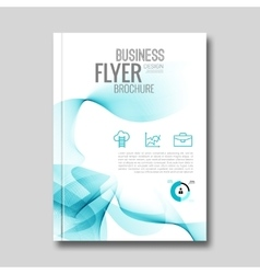 corporate brochure annual report flyer vector image