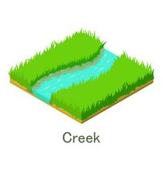 creek icon isometric style vector image