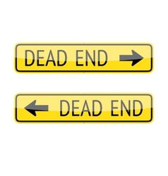 Dead End Signs vector image