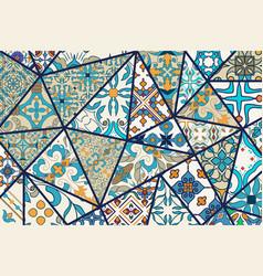 Decorative background mosaic patchwork vector