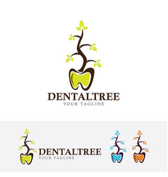dental herbal logo design vector image