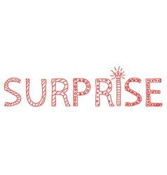 doodle surprise lettering word sketch vector image