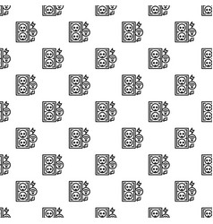 Electrical outlet pattern seamless vector